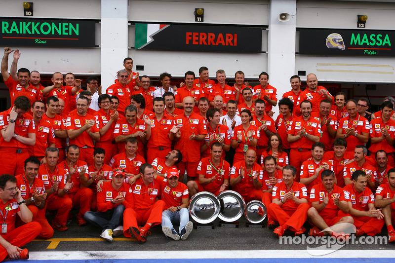 A Ferrari é a equipe que mais venceu na França, com 17 triunfos