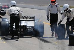 Graham Rahal leaves the pits