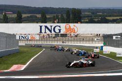 Pace lap: Romain Grosjean