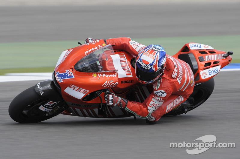 После успеха Кейси Стоунера на Ducati в 2008-м (на фото) в Ассене побеждали только Honda и Yamaha. Причем начиная с Бена Списа в 2011-м, две эти марки выигрывают строго поочередно