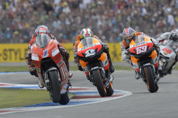 Casey Stoner, Dani Pedrosa and Nicky Hayden