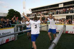 Audi Heroes Cup 'Human Kicker' event: Tom Kristensen