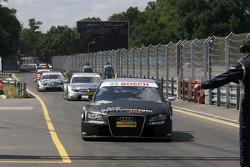 Timo Scheider, Audi Sport Team Abt, Audi A4 DTM enters parc ferme_