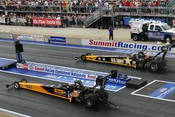 Rod Fuller (left), Tony Schumacher