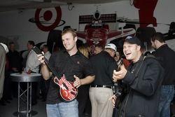 David Gilliland at the Guitar Hero VIP Party