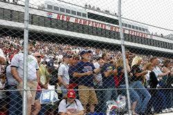 Fans wait for the start