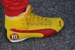 Dan Wheldon's shoes