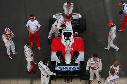Timo Glock, Toyota F1 Team, TF108 ve Jarno Trulli, Toyota Racing