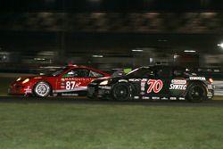 #87 Farnbacher Loles Racing Porsche GT3 Cup: Bryce Miller, Dirk Werner, #70 SpeedSource Mazda RX-8: Nick Ham, Sylvain Tremblay