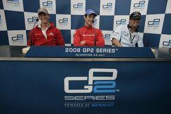 Bruno Senna, Romain Grosjean and Andreas Zuber