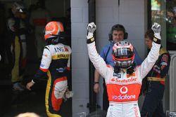 Ganador de la pole position Heikki Kovalainen, McLaren Mercedes