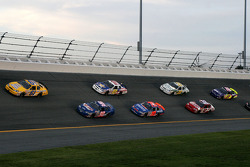 Kevin Lepage and Johnny Chapman lead a group of cars