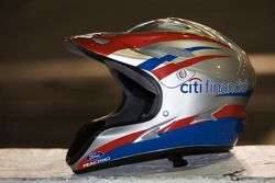 A crew helmet for the #16 Citi Financial team