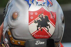 The back of Dan Wheldon's helmet
