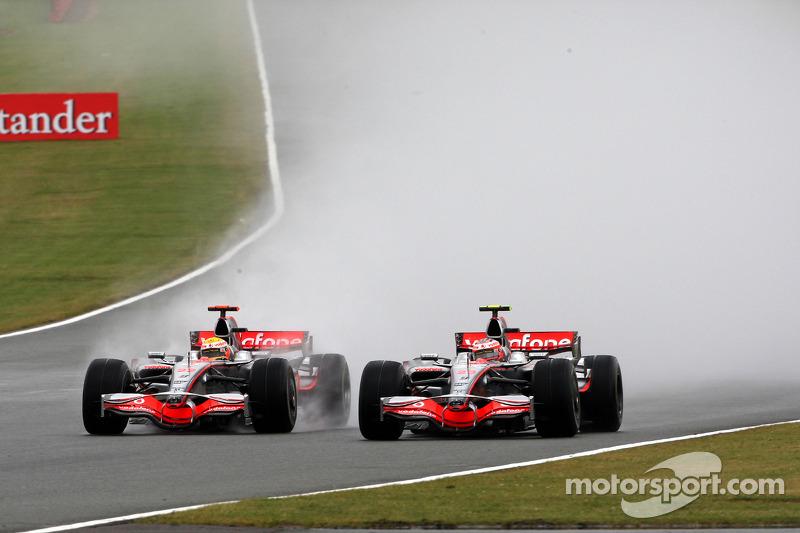 2008 год. Победа Льюиса Хэмилтона (McLaren) в Гран При Великобритании