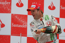 Podium: derde plaats Rubens Barrichello