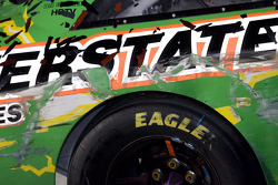 Victory lane: detail on the #18 Interstate Batteries Toyota