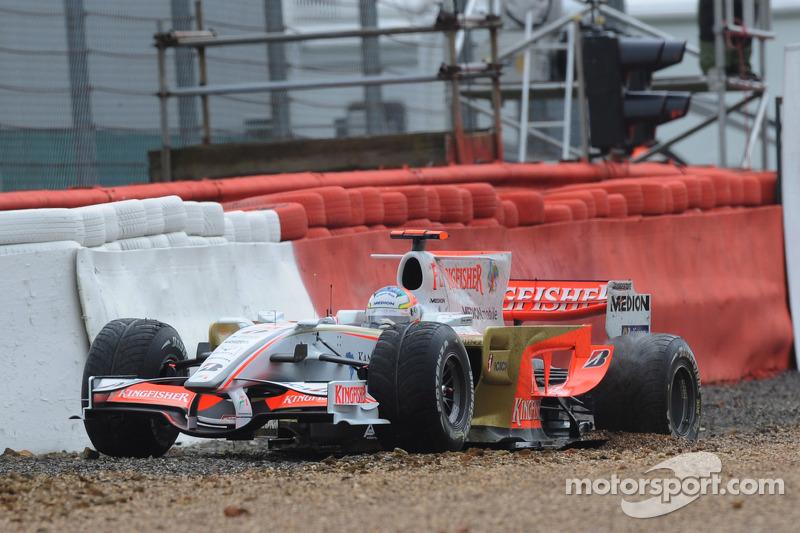Adrian Sutil, Force India F1 Team, VJM-01 se retira