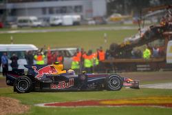Mark Webber, Red Bull Racing, RB4, spin