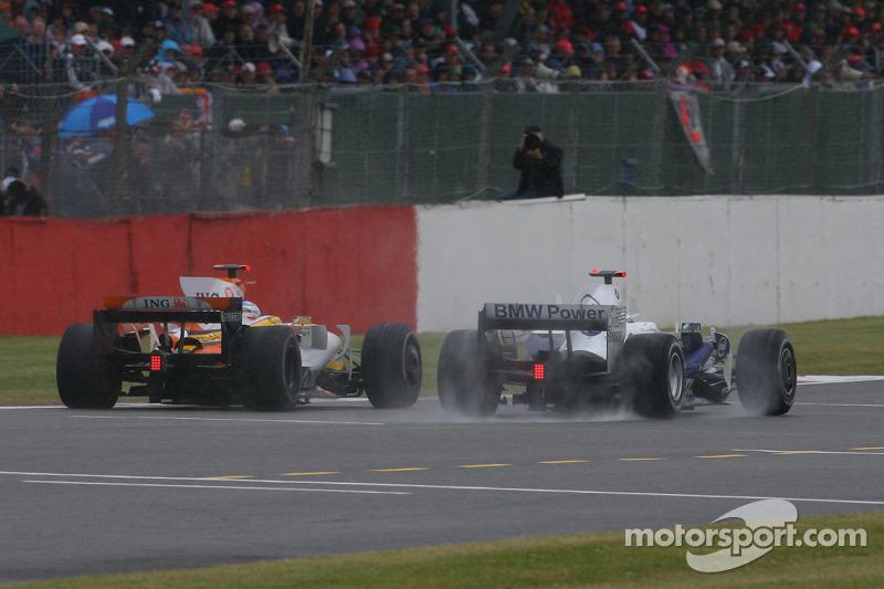 Fernando Alonso, Renault F1 Team, R28 y Nick Heidfeld, BMW Sauber F1 Team, F1.08