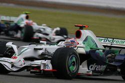Дженсон Баттон, Honda Racing F1 Team, RA108 leads Rubens Barrichello, Honda Racing F1 Team, RA108