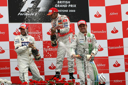 Podium: 1. Lewis Hamilton, 2. Nick Heidfeld, 3. Rubens Barrichello