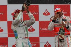 Podium: derde plaats Rubens Barrichello