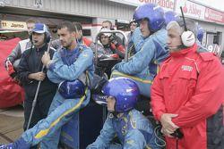 Durango and Dams mechanics watch the race action