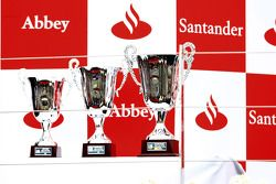 GP2 Series Trophies on the podium