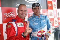 GT2 pole winner Gianmaria Bruni and GT1 pole winner Karl Wendlinger