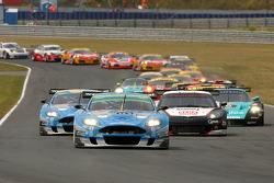 Start: #36 Jetalliance Racing Aston Martin DB9: Lukas Lichtner-Hoyer, Alex Müller leads the field