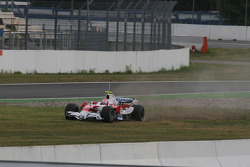 Kamui Kobayashi, Test Driver, Toyota F1 Team in the gravel