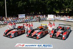 #1 Audi Sport North America Audi R10: Marco Werner, Frank Biela, Emanuele Pirro, #2 Audi Sport North