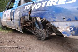 The car of Eric Vigouroux after 1 special stage