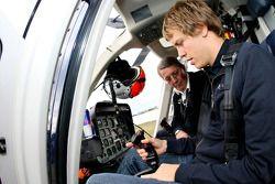 Sebastian Vettel, Scuderia Toro Rosso takes a helicopter trip over Hockenheim for an aerial view of