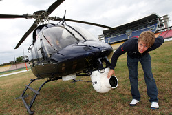 Sebastian Vettel, Scuderia Toro Rosso takes a helicopter trip over Hockenheim for an aerial view of the circuit