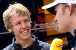 Sebastian Vettel, Scuderia Toro Rosso and Nico Rosberg, WilliamsF1 Team