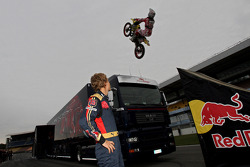 Red Bull X-Fighters Demo Show: Busty Wolter jumps over Sebastian Vettel, Scuderia Toro Rosso, Mark Webber, Red Bull Racing
