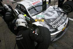 Pitstop practice of Bernd Schneider, Team HWA AMG Mercedes, AMG Mercedes C-Klasse