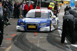 Katherine Legge, TME, Audi A4 DTM, stopping for a pitstop practice