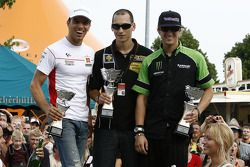 The Sachsenring go-kart race: the podium