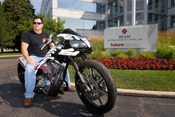 Robby Gordon and Ralph Randolph made an appearance at Beam Global Wine and Spirits in Deerfield, Illinois to promote the custom chopper to be auctioned for charity next year