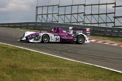 The Porsche RS Spyder of Van Merksteijn Motorsport, that won the LMP2 class at the 2008 Le Mans, driven by Paul van Splunteren, spinning while doing some demo laps