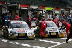 Александр Према, Audi Sport Team Phoenix, Audi A4 DTM и Оливер Джарвис, Audi Sport Team Phoenix, Aud