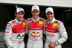 Top 3 for Audi in qualifying with Mattias Ekström, Audi Sport Team Abt Sportsline, Timo Scheider, A