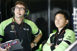 Juan Martínez (jefe del equipo del oeste) y Ichiro Yoda (Director de competición de Kawasaki)