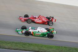 Tony Kanaan and Dan Wheldon running together