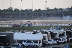 Marco Andretti crashes