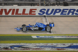 Scott Dixon takes the caution flag