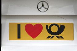The car of Susie Stoddart, Persson Motorsport AMG Mercedes, AMG Mercedes C-Klasse with a customized Deutsche Post sign